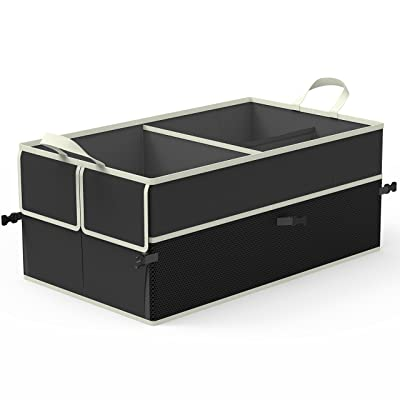 EPAuto 3-Compartment Cargo Trunk Storage Organizer: Automotive [5Bkhe1012529]