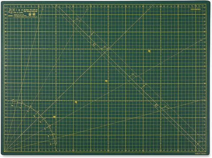 Tapis de Coupe Autocicatrisant Plaque de Decoupe Tapis de Decoupe Auto-cicatrisant Tapis de Couture Elan Tapis de D/écoupe A3 Vert Tapis Patchwork 45cm x 30cm