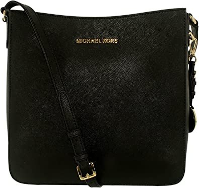 92da58332a64 MICHAEL Michael Kors Jet Set Travel Large Saffiano Messenger Bag in Black