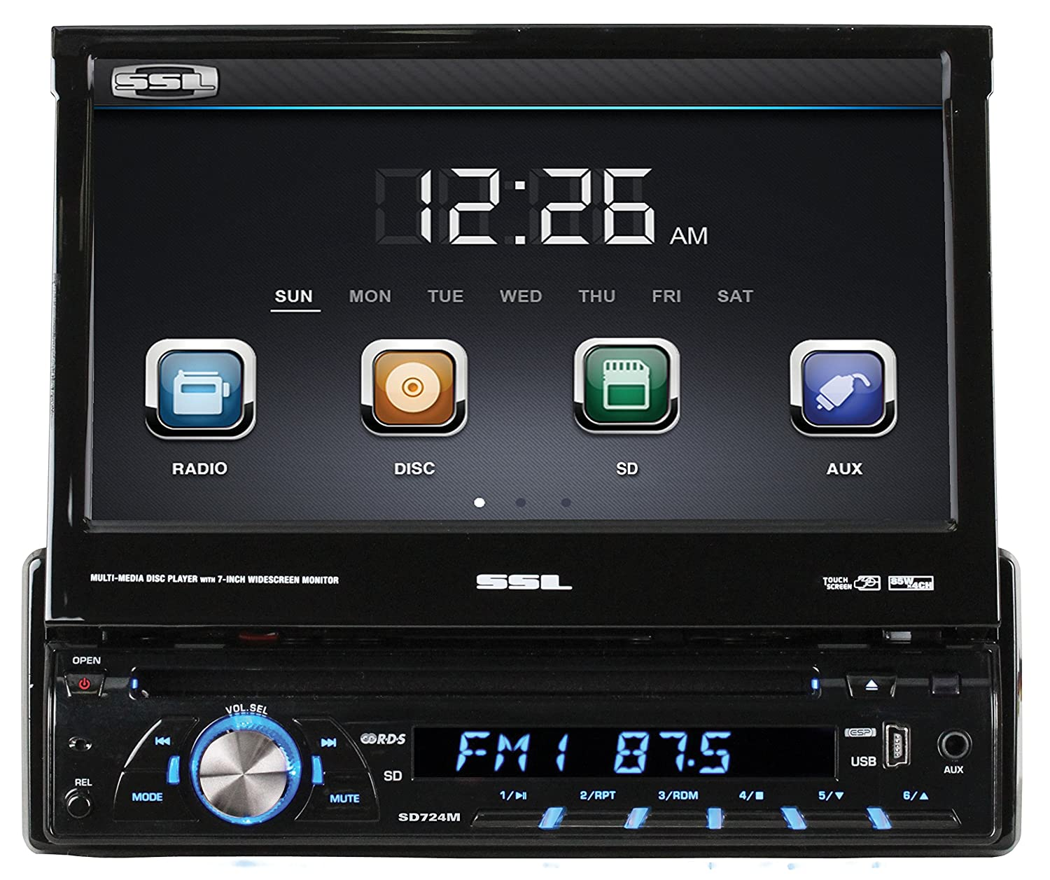 Vision Dvd Player Wiring Diagram Library Super Afc 2wire Amazoncom Sound Storm Sd724m Single Din 7 Inch Motorized Touchscreen