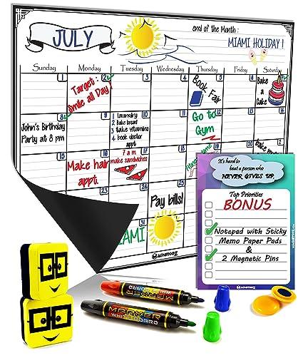 Magnético frigorífico Junta de borrado en seco Calendario diario ...
