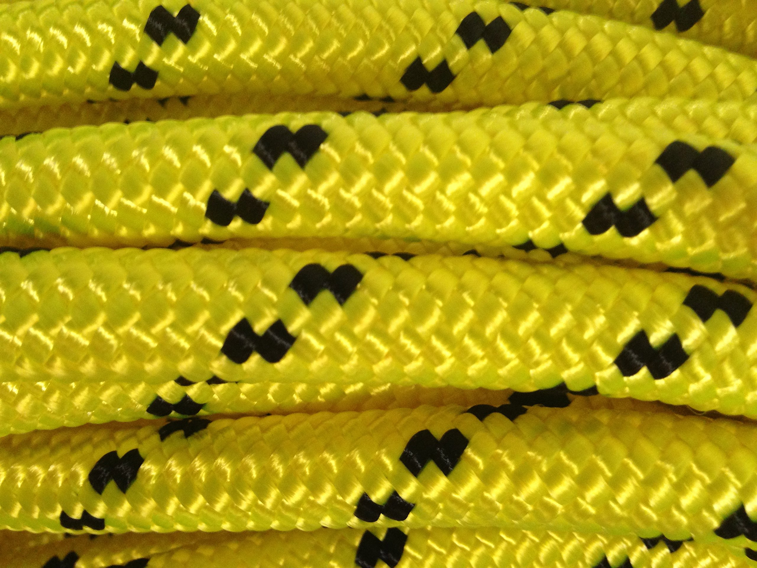 1/2'' X 200' Double Braided Polyester Arborist Tree Rope, Yellow