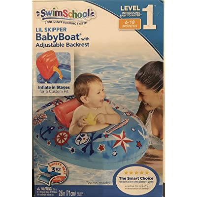 SWIMSCHOOL BOYS ADJUSTABLE BACKREST BABY BOAT(6-18 MONTHS) : Baby