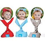PeaceFull Baby Girl Headbands Designed for Newborn, Toddlers and Children – Made of 100% Organic Cotton/Cotton Blends – Customizable to style as you please: Bow, Turban, Knotted, Hairband and more