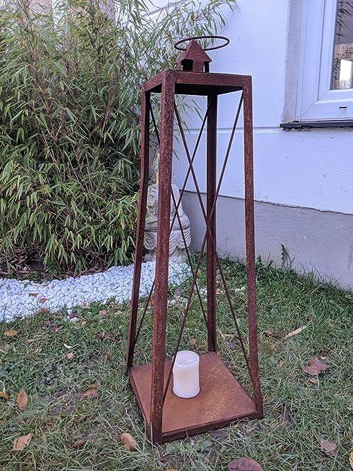 Zen Man - Portavelas para jardín (Metal Oxidado, 28 x 28 x 70 cm): Amazon.es: Hogar