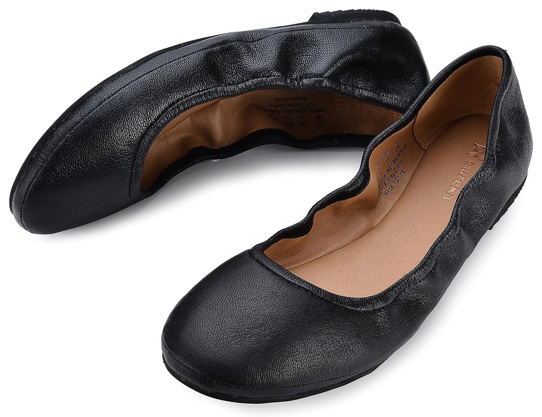 Eureka Ballet USA Women's Audrey Leather Ballet Eureka Flat B074V1CMBS 9 B(M) US|301 Jaquar Black fd51d5