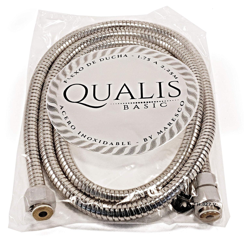 Flexo de Ducha de Acero Inoxidable Extensible Universal con longitud de 1,75m a 2,25m. Rosca Universal G 1/2. Con la calidad de QUALIS respaldado ...
