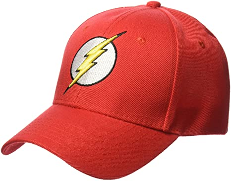 be2973f930d Image Unavailable. Image not available for. Colour  DC Comics Men s Flash  Faux Wool Baseball Cap with 3D Embroidered Logo