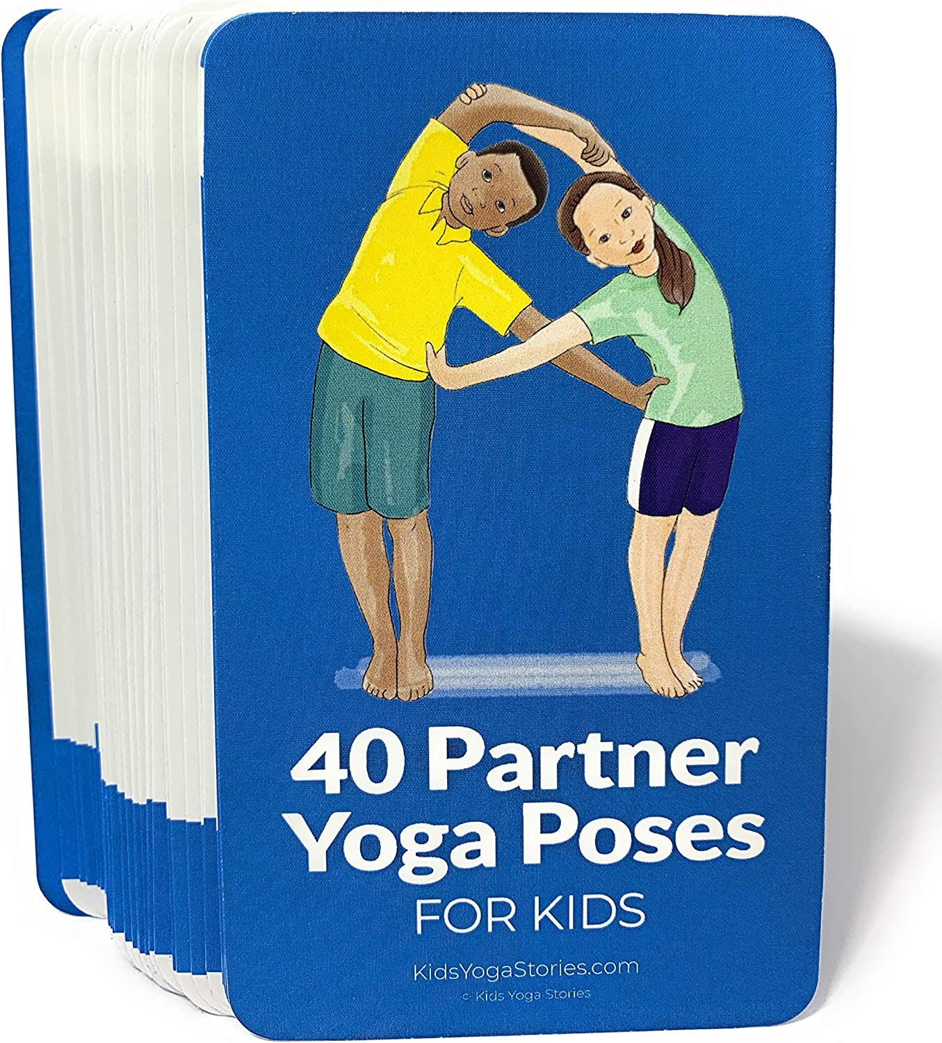 Amazon Com 40 Partner Yoga Poses Cards For Kids Connect Be Active And Have Fun Toys Games