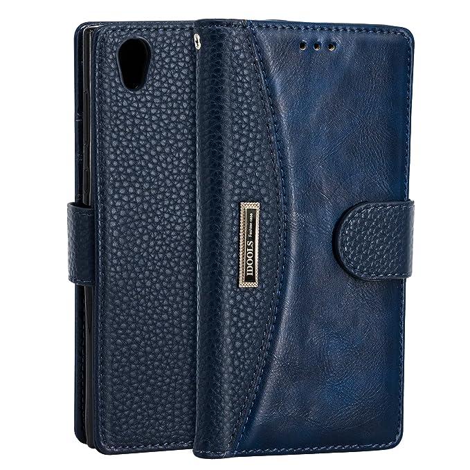 1 opinioni per IDOOLS Custodia Sony Xperia L1, Custodia per Telefono in Pelle con Slot per