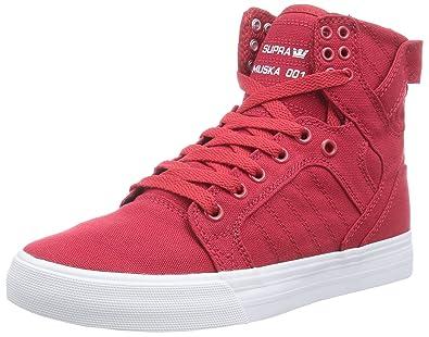8e404ec4cafe Supra Men Red Skytop D Sneakers (7 UK)  Buy Online at Low Prices in ...