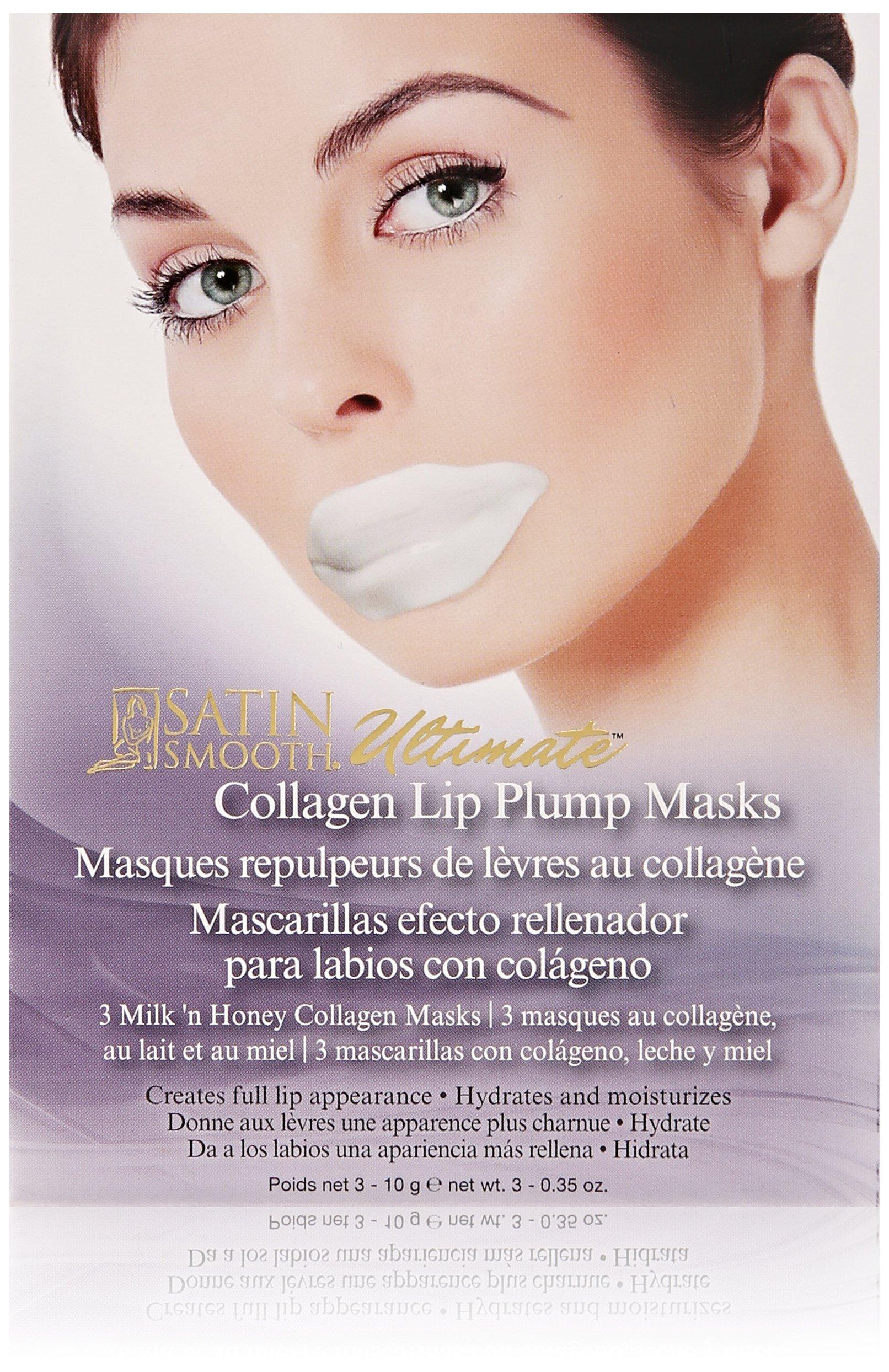 Amazon.com : Satin Smooth MILK 'N HONEY Collagen Masks ...