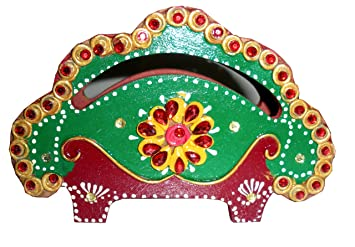 Buy Decorative Jaipur Handicrafts Wood Napkin Holder Tissue Holder
