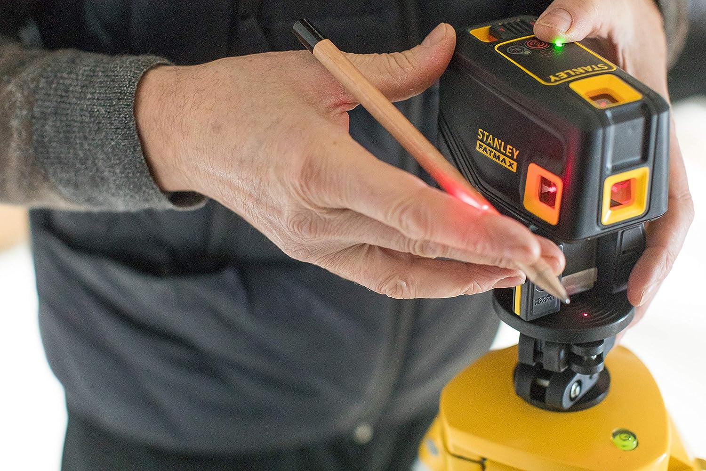 30 metros /±3mm//m Rojo STANLEY FMHT1-77413 Nivel laser de 5 puntos