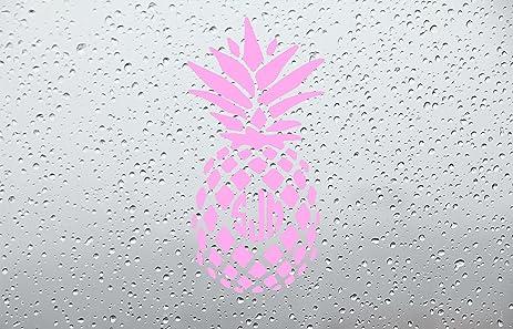 Amazoncom Pineapple Monogram Car DecalSticker INCH PINK - Monogram car decal amazon