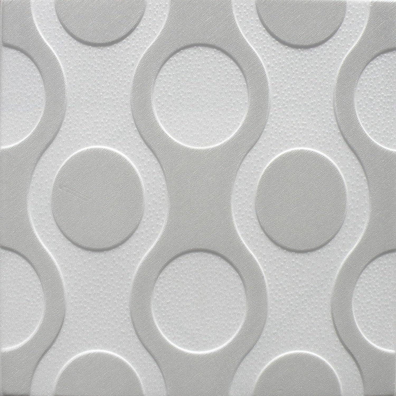 Poliestireno de pared decorativos paneles de techo azulejos Breez G, multicolor, 500 x 500 mm Euro