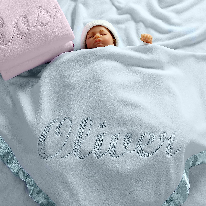 3e44244fa4 Amazon.com  Personalized Baby Blankets (Blue)