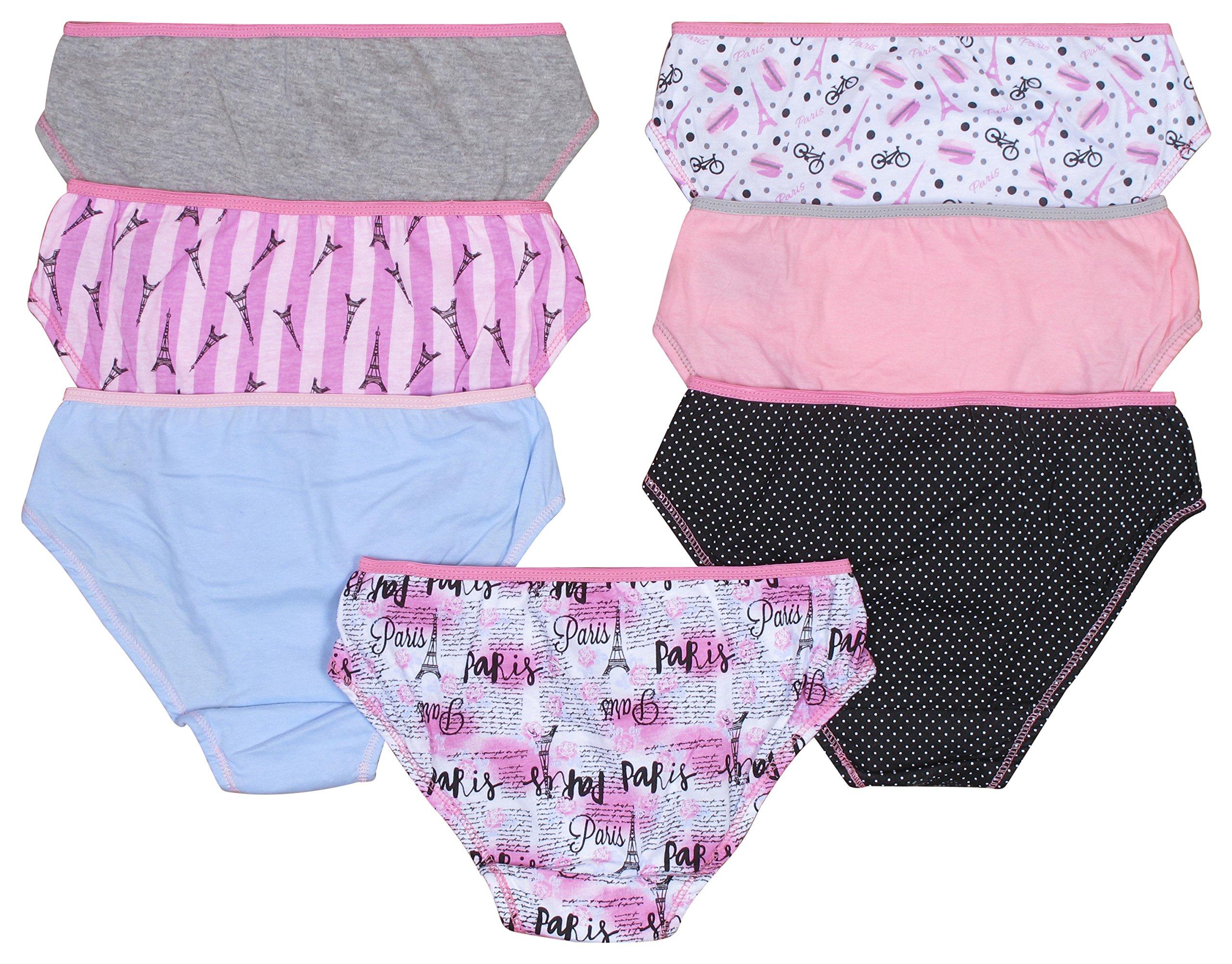 Solids /& Prints dELiA*s Girls Bikini Underwear 7 Pack