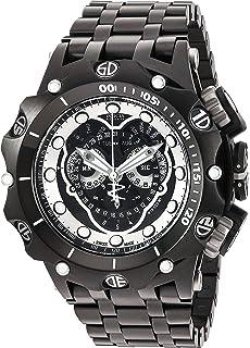 Invicta Mens Venom Swiss Quartz Stainless Steel Watch, Color:Black (Model