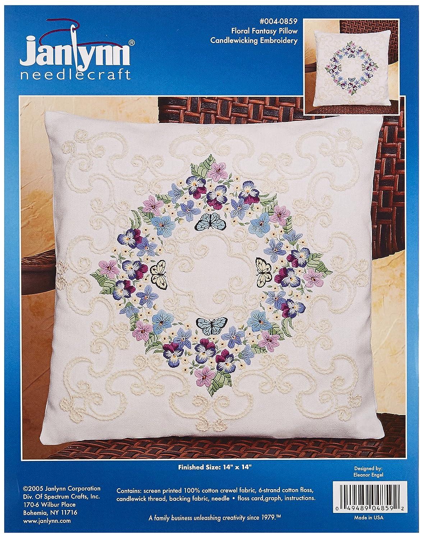 Janlynn Floral Crewel Embroidery 004-0852