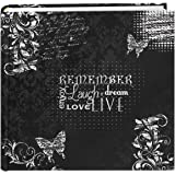 "Pioneer Photo Albums EV-246CHLK/R  200-Pocket Chalkboard Printed ""Remember"" Theme Photo Album for 4 by 6-Inch Prints"