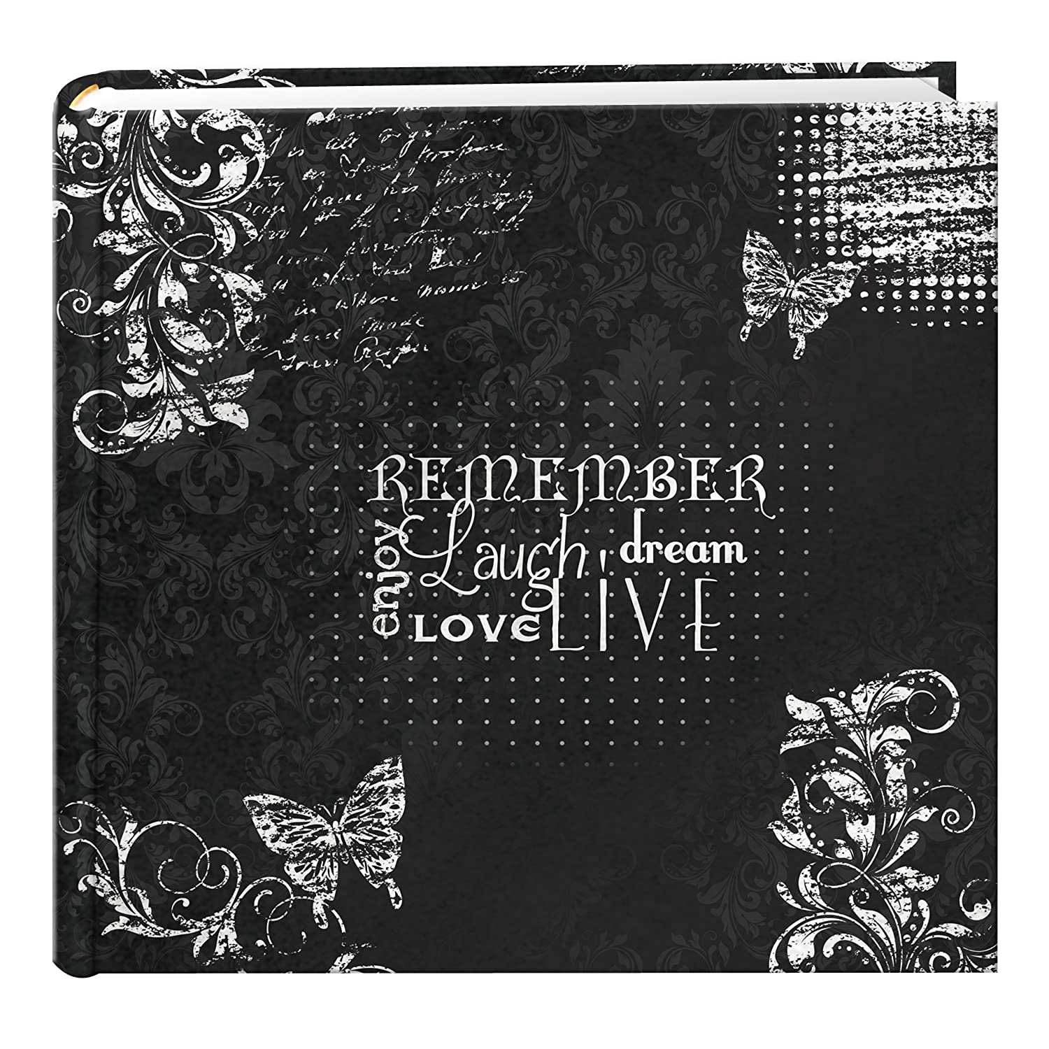 Pioneer Photo Albums EV-246CHLK/R 200-Pocket Chalkboard Printed Remember Theme Photo Album for 4 by 6-Inch Prints