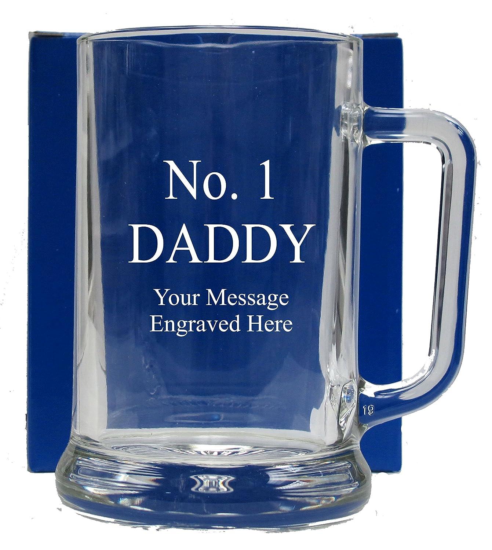 No 1 DADDY GLASS TANKARD GT106 1stclassgifts.co.uk