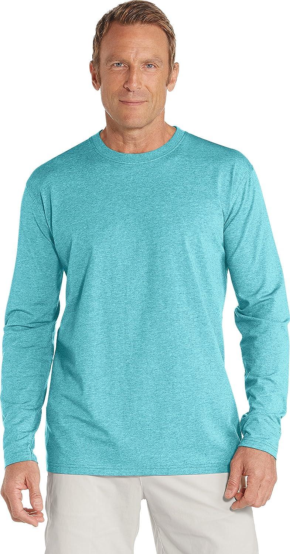 Coolibar UPF 50+ メンズ長袖Tシャツ 日焼け防止 B07CDPDQ9P X-Large|スカイブルーヘザー スカイブルーヘザー X-Large