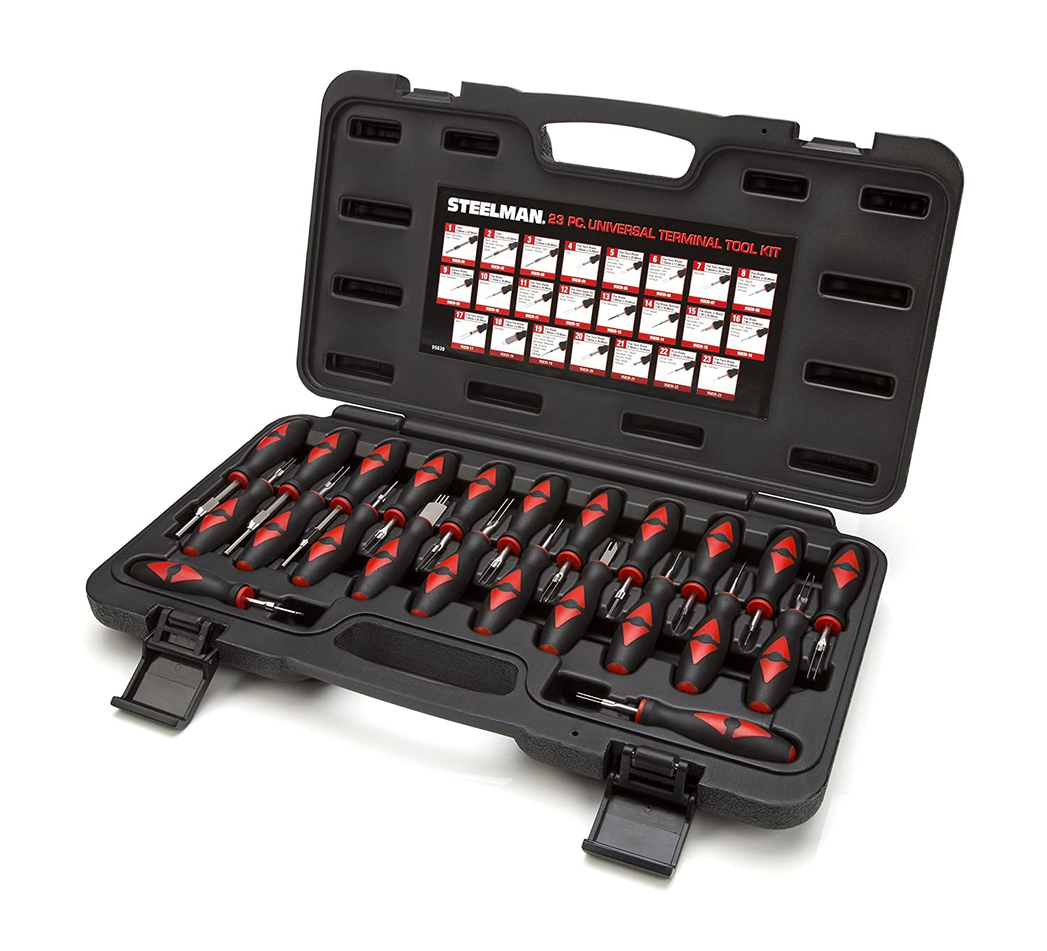 23-Piece Universal Terminal Tool Kit for Auto Technicians by Steelman,  Safely Remove Wires from Terminal Block Without Damage, Variety of Blade  Styles