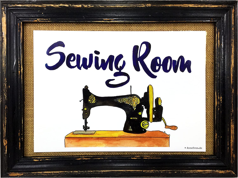 AnneSvea Sewing Room Costura nähzimmer Impresión Póster Máquina de ...