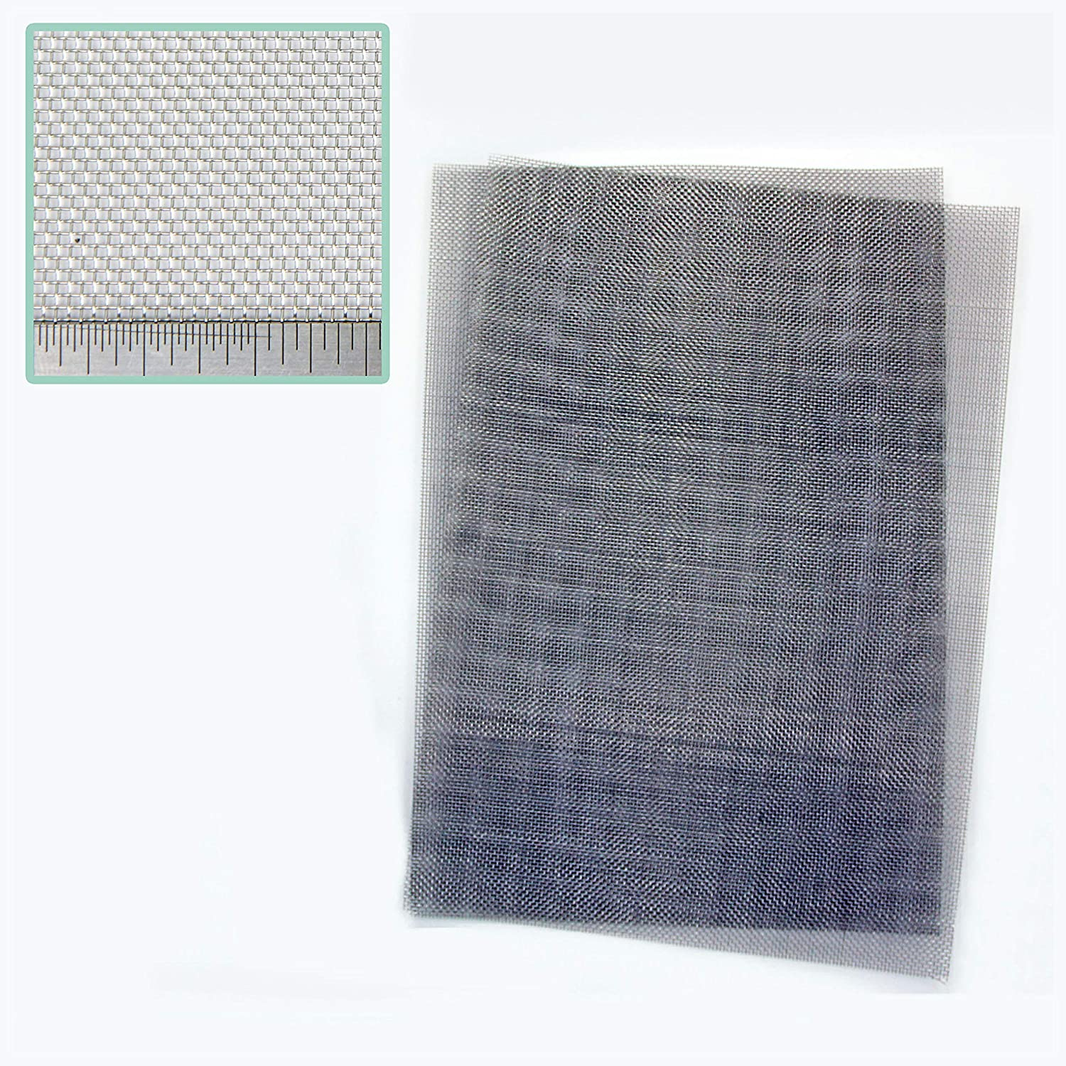 Pack of 2 - Stainless Steel Woven RODENT PROOF Mesh - 1mm Hole - A4 (210 x 300mm) Great For Airbricks The Mesh Company
