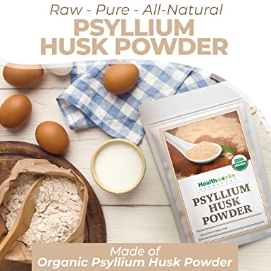 Healthworks Psyllium - Polvo de cáscara en bruto orgánico ...