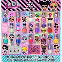 Townley Girl L.O.L. Surprise! Non-Toxic Peel-Off Nail Polish Set for Girls, Glittery and Opaque Colors, with Toe Spacers…