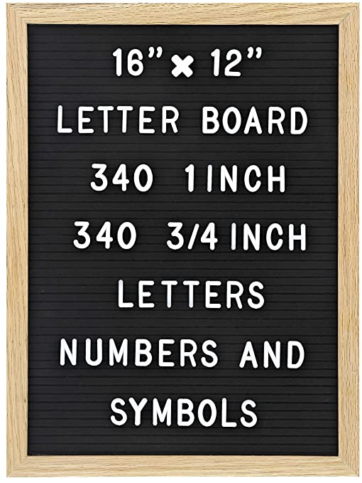 Amazon Felt Letter Board With 680 Letters Numbers Symbols