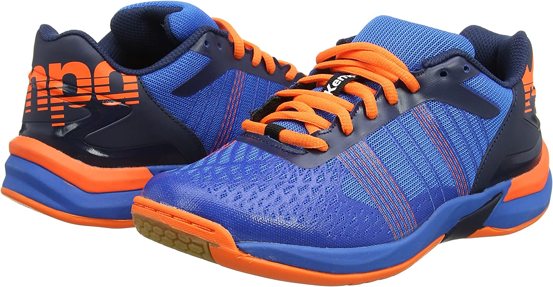 uhlsport Men's Attack Three Contender Shoes Energy Blue/Navy/Fluo Ora