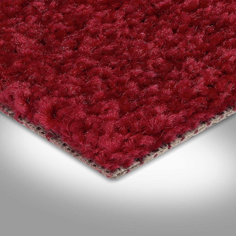 verschiedene L/ängen Variante 3 x 4 m BODENMEISTER BM72182 Teppichboden Auslegware Meterware Hochflor Shaggy Langflor Velour rot 400 cm und 500 cm breit