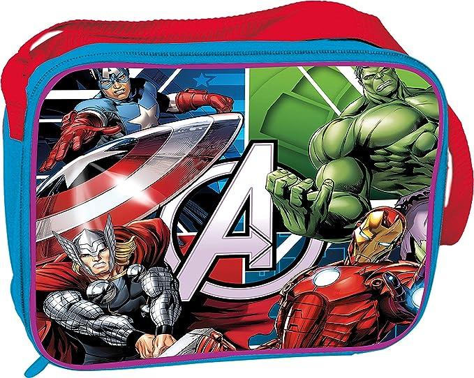Kids Euroswan Bolsa de Merienda Termica Modelo Avengers, Compuesto, 25x8x20 cm