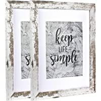 Picture Frame Made of MDF Wood for Tabletop Display and Wall Mounting Photo Frame White (11x14-2Pack)