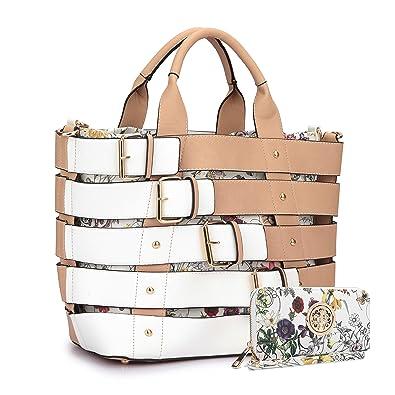 57467301a6 MMK Collection Satchel  Briefcase set~Satchel handbags with Wristlet wallet  ~Designer Purse for Women