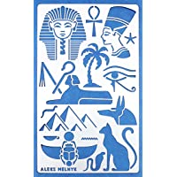 Aleks Melnyk #31 Metal Journal Stencil/Egypt Symbols/Stainless Steel Stencil 1 PCS/Template Tool for Wood Burning…