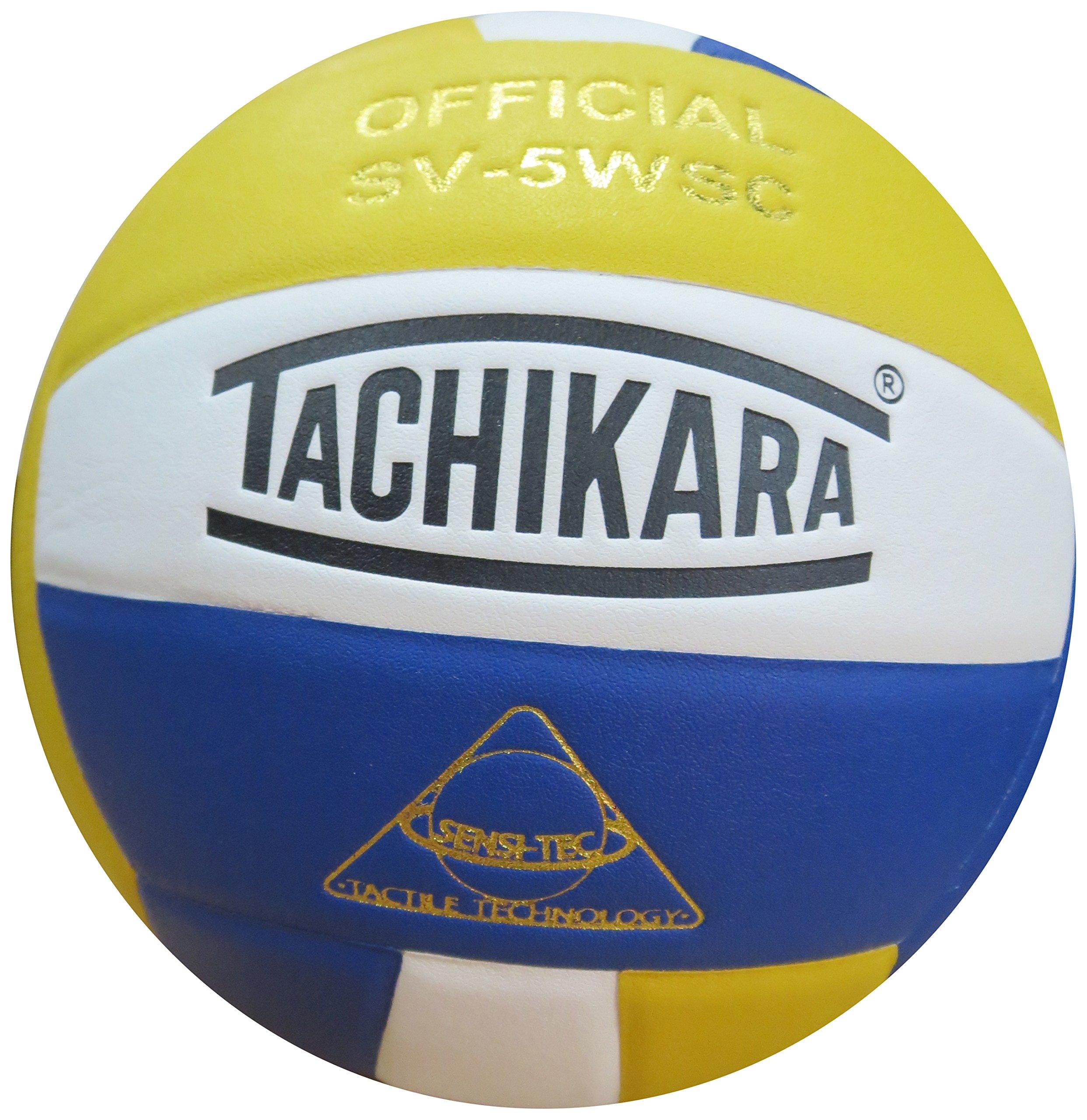 Tachikara Sensi-Tec Composite High Performance Volleyball (Royal/White/Gold) by TACHIKARA