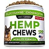 STRELLALAB Hemp Treats + Glucosamine for Dogs - Hip & Joint Supplement - w/Hemp Oil + Protein - Chondroitin, MSM, Turmeric to