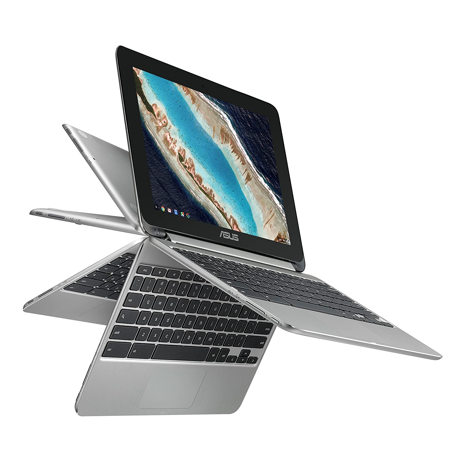 Asus C101PA-DB02 10.1-Inch Touch Chromebook Flip, All Metal ...