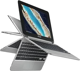 "ASUS Chromebook Flip C101 2-In-1 Laptop- 10.1"" 4-Way WXGA Touchscreen, Rockchip RK3399 Quad-Core Processor, 4GB RAM, 16GB Storage, All Metal Body, Lightweight, USB Type-C, Chrome OS- C101PA-DB02"
