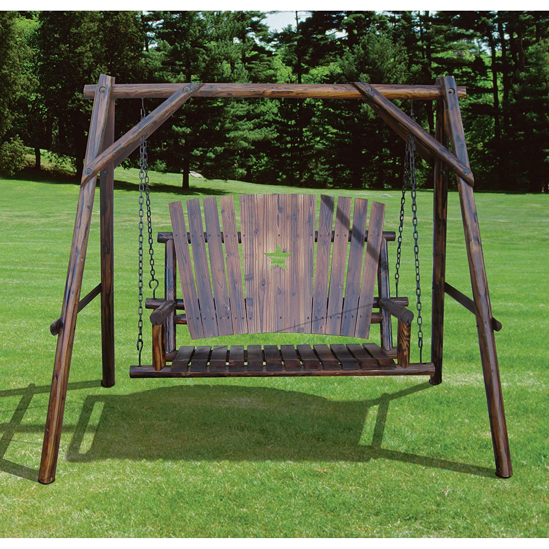 Amazon.com : Char-Log A-Frame Base and Bench Swing : Garden & Outdoor