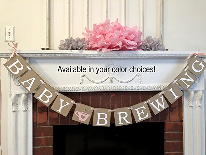Amazon Com Baby Shower Decorations Baby Brewing Banner