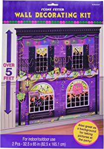 "amscan 670082 Mardi Gras Party Scene Setters Wall Decorating Kit 65"" x 65"" 1ct, Nhl Ice Time!"