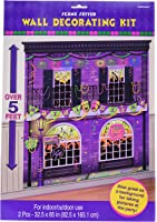 "Mardi Gras Party Scene Setters Wall Decorating Kit, 65"" x 65"", Pack of 2."
