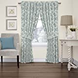 Waverly 15402052084CRF Charmed Life 52-Inch by 84-Inch Toile Single Window Curtain Panel, Cornflower