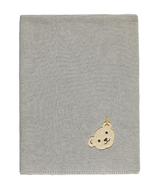 Steiff Decke Flachstrick 6832950, Saco de Dormir para Niñas, Grau (habor Mist 1055